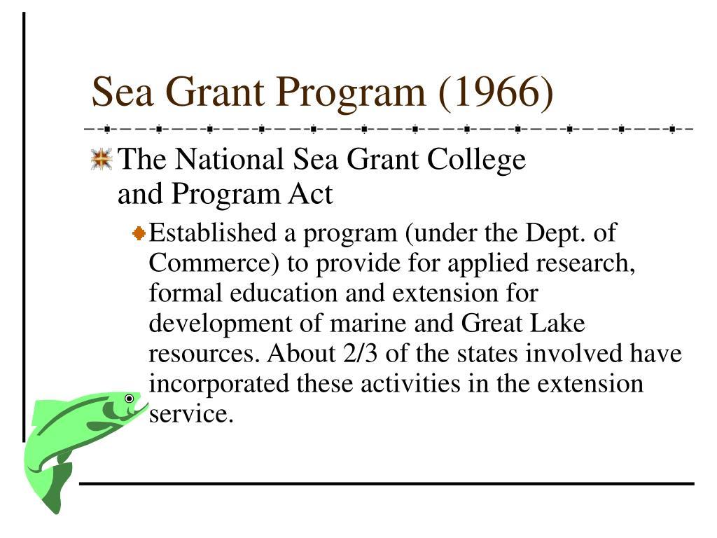 Sea Grant Program (1966)