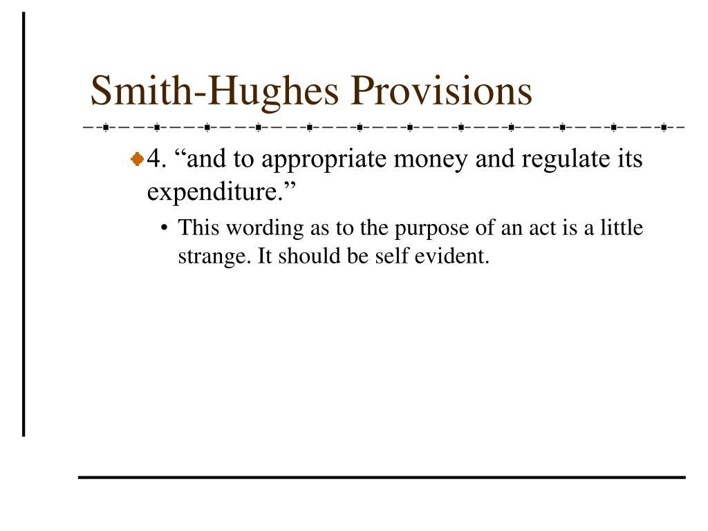 Smith-Hughes Provisions