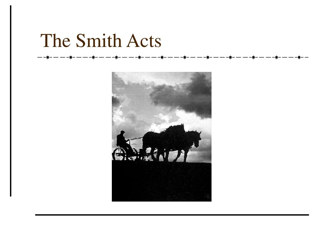 The Smith Acts