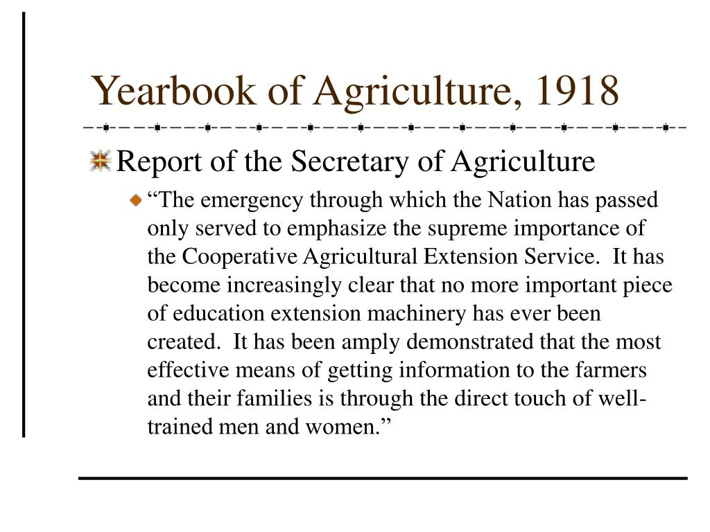 Yearbook of Agriculture, 1918