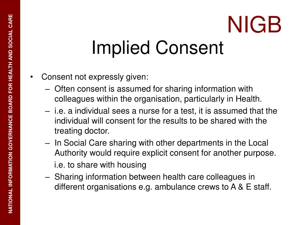 Consent not expressly given: