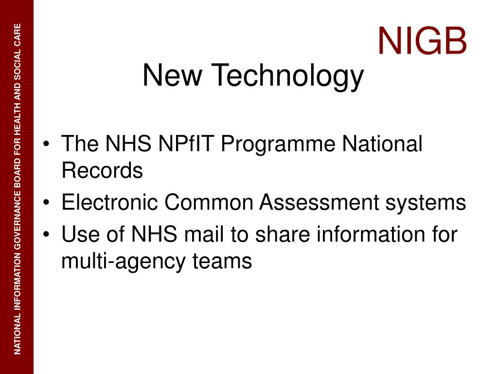 The NHS NPfIT Programme National Records