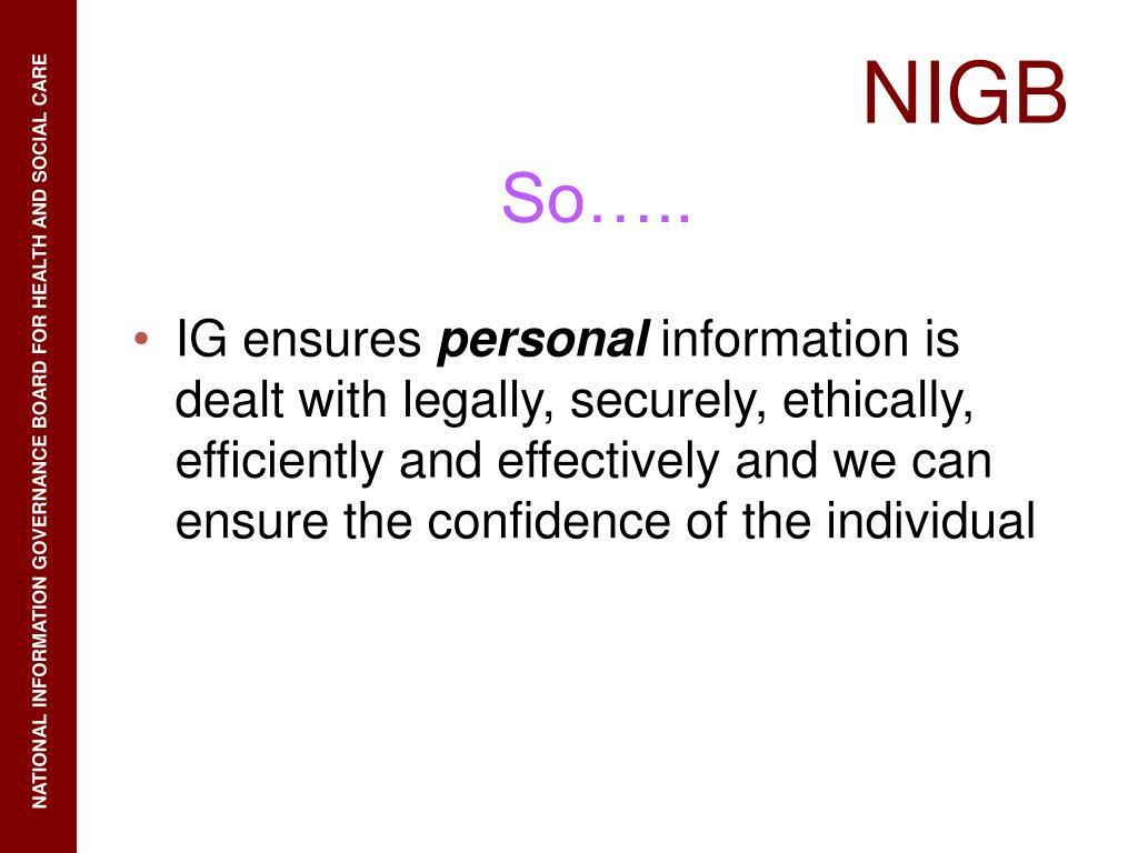 IG ensures