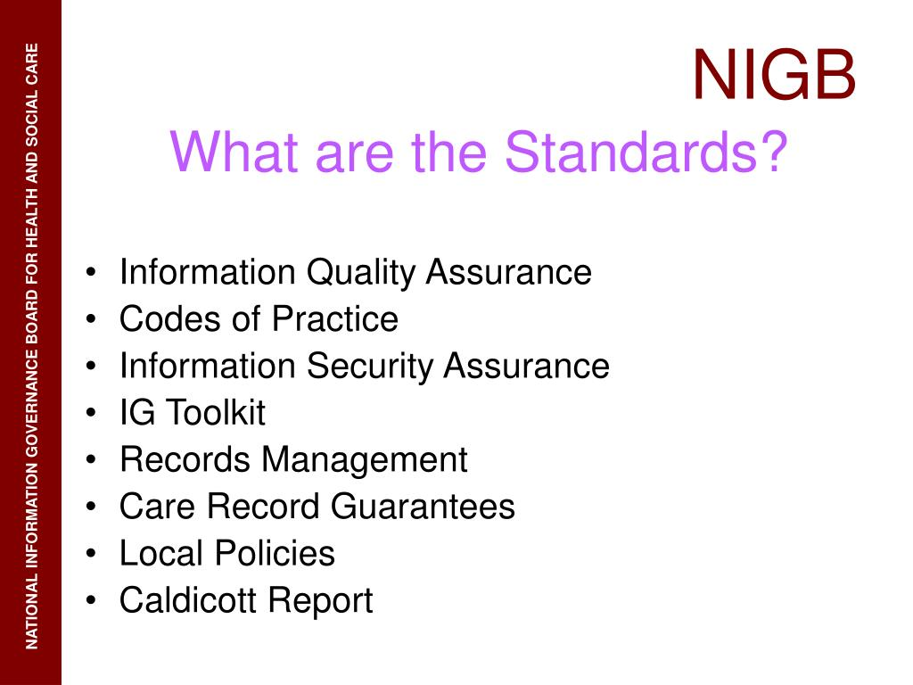 Information Quality Assurance