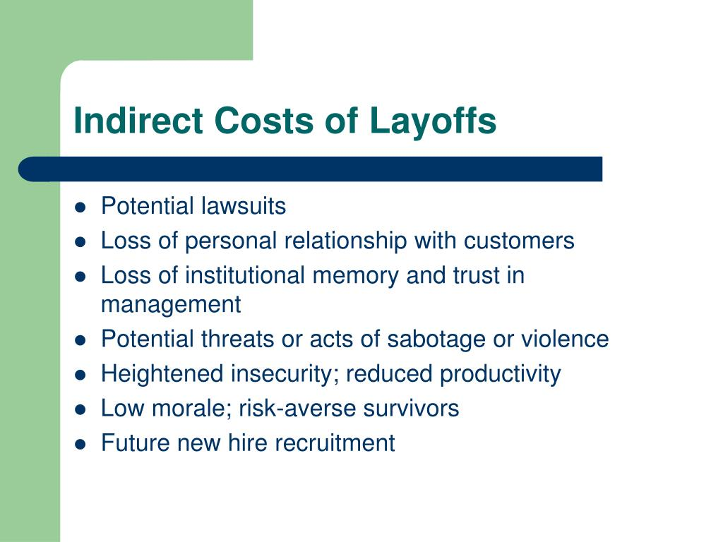 Indirect Costs of Layoffs