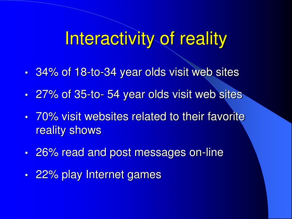 Interactivity of reality