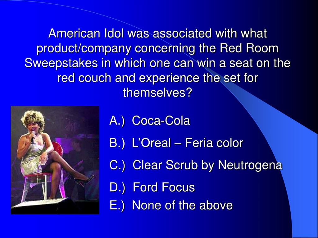 American Idol was associated with what product/company concerning the Red Room Sweepstakes in which one can win a seat on the red couch and experience the set for themselves?