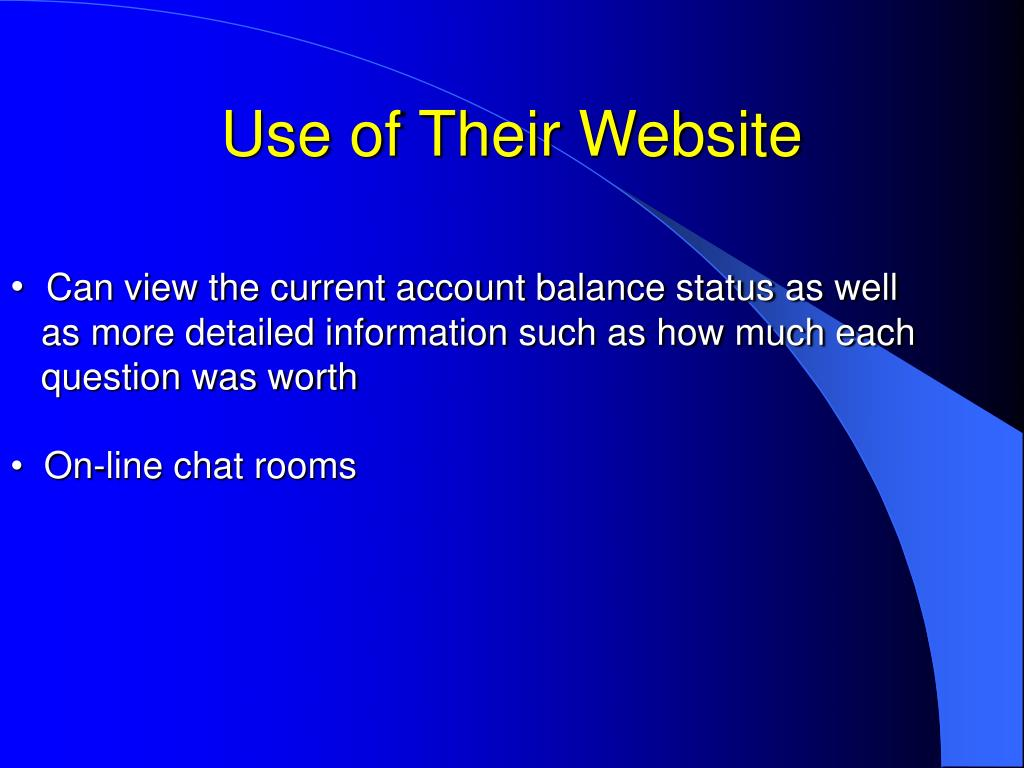 Use of Their Website