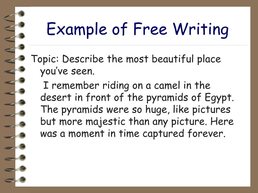 Example of Free Writing