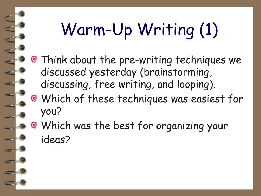 Warm-Up Writing (1)