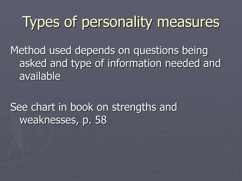 Types of personality measures