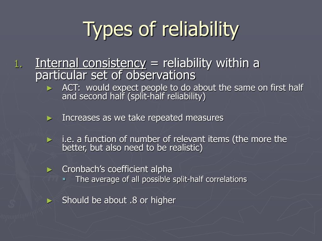 Types of reliability
