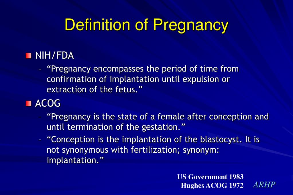 Definition of Pregnancy