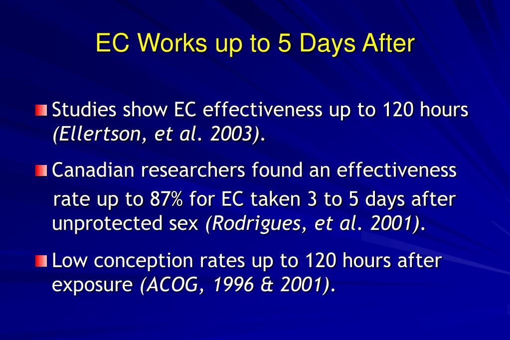 EC Works up to 5 Days After