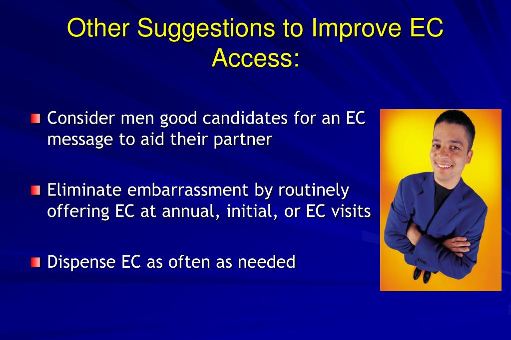 Other Suggestions to Improve EC Access: