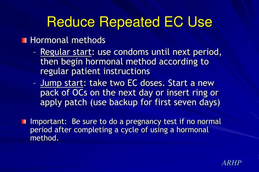 Reduce Repeated EC Use