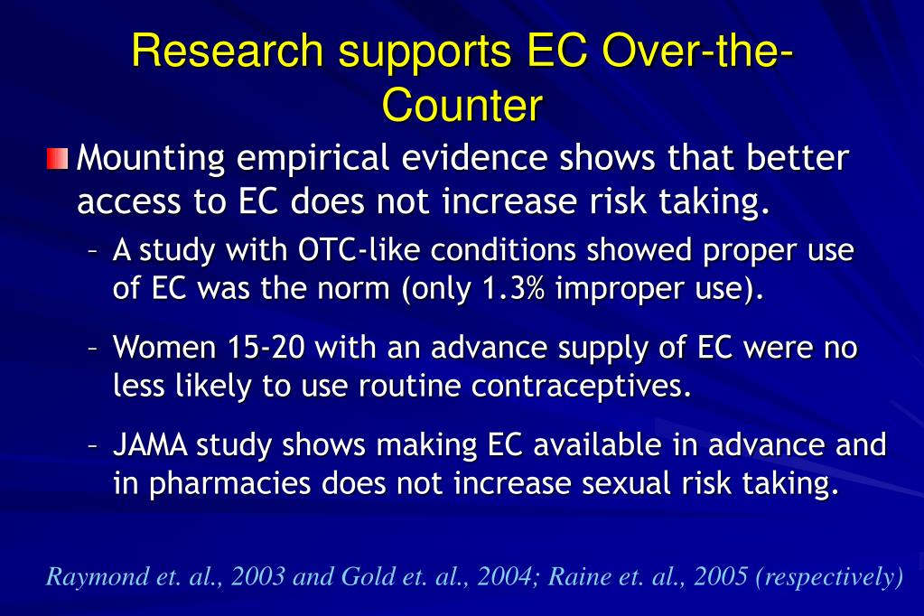 Research supports EC Over-the-Counter