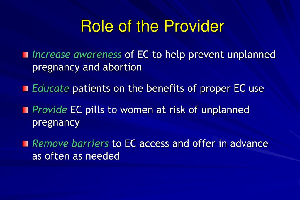 Role of the Provider