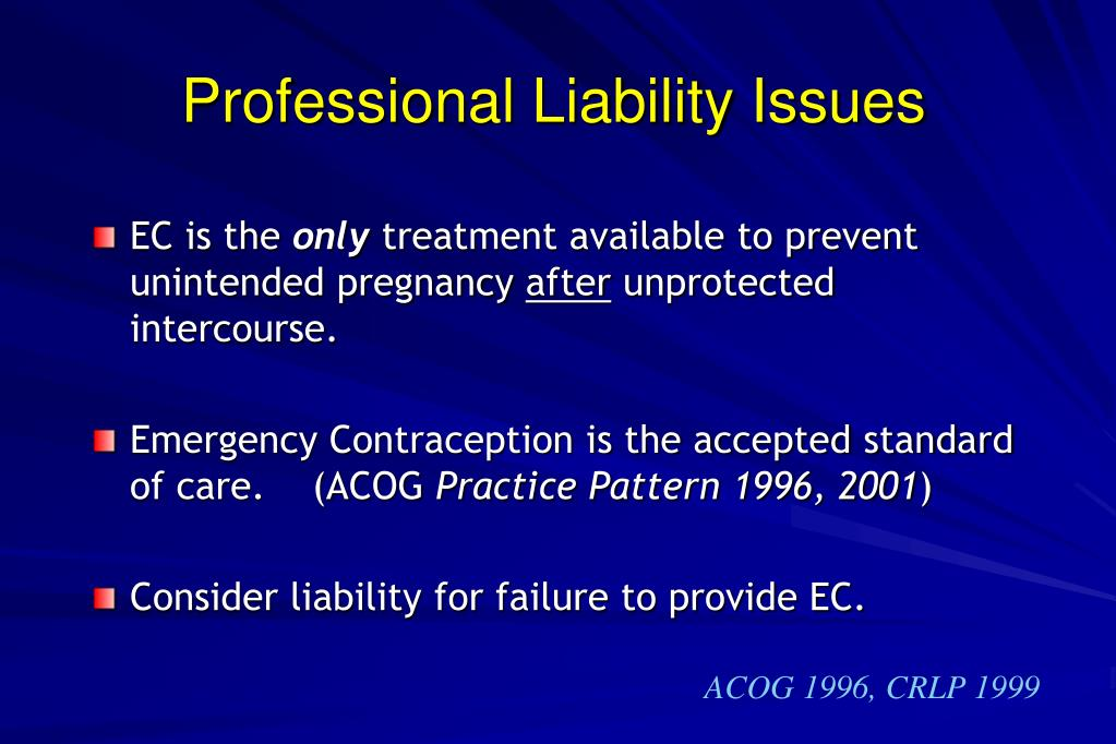 Professional Liability Issues