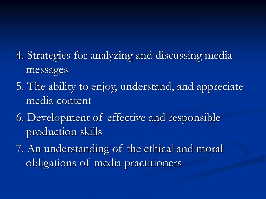 4. Strategies for analyzing and discussing media messages