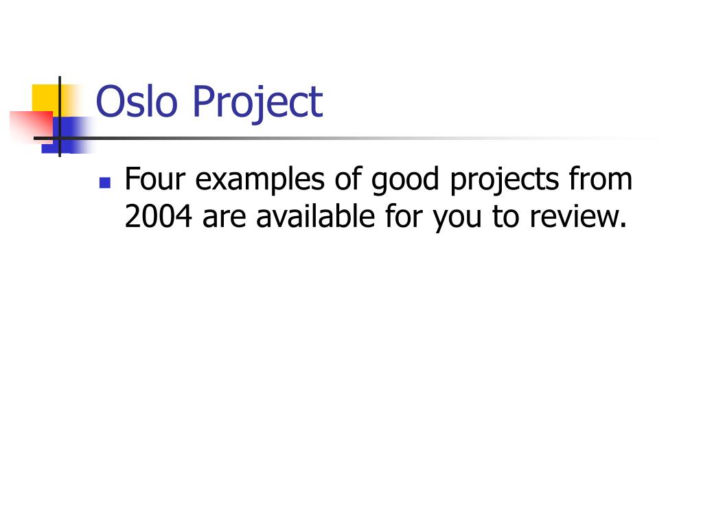 Oslo Project