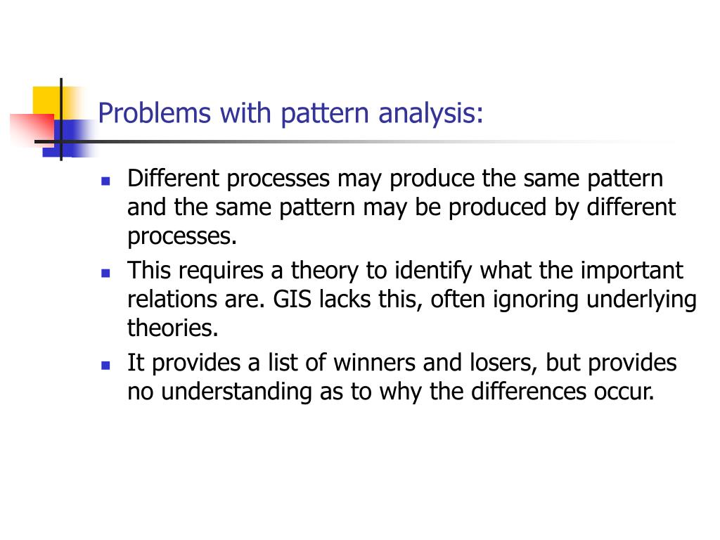 Problems with pattern analysis: