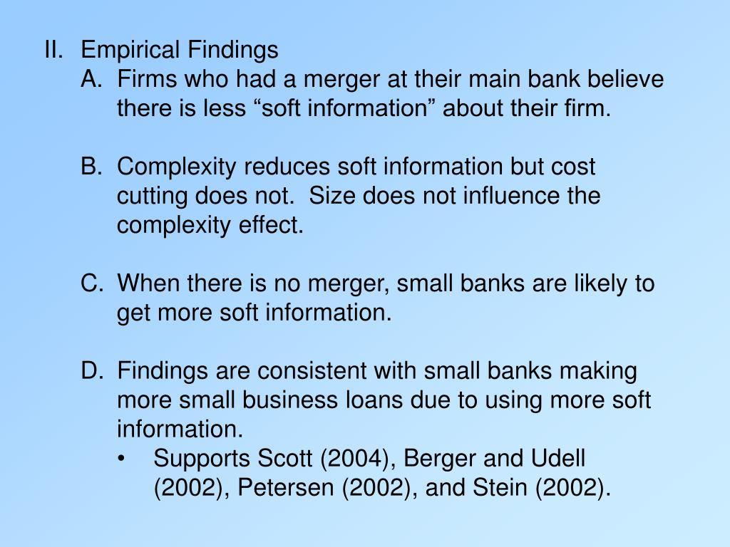 Empirical Findings
