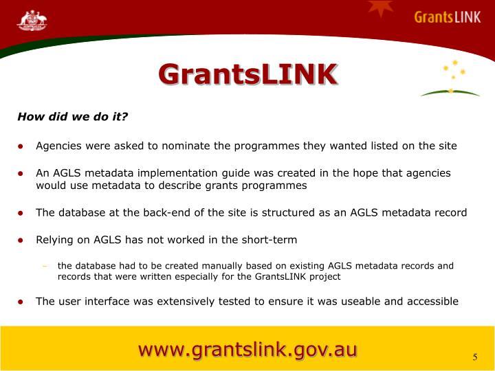 GrantsLINK