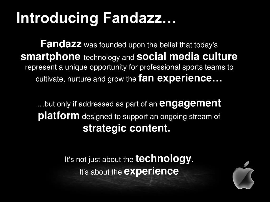 Introducing Fandazz…