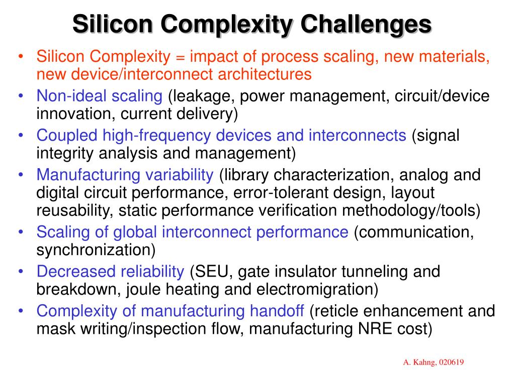 Silicon Complexity Challenges