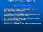 groups synthesis27