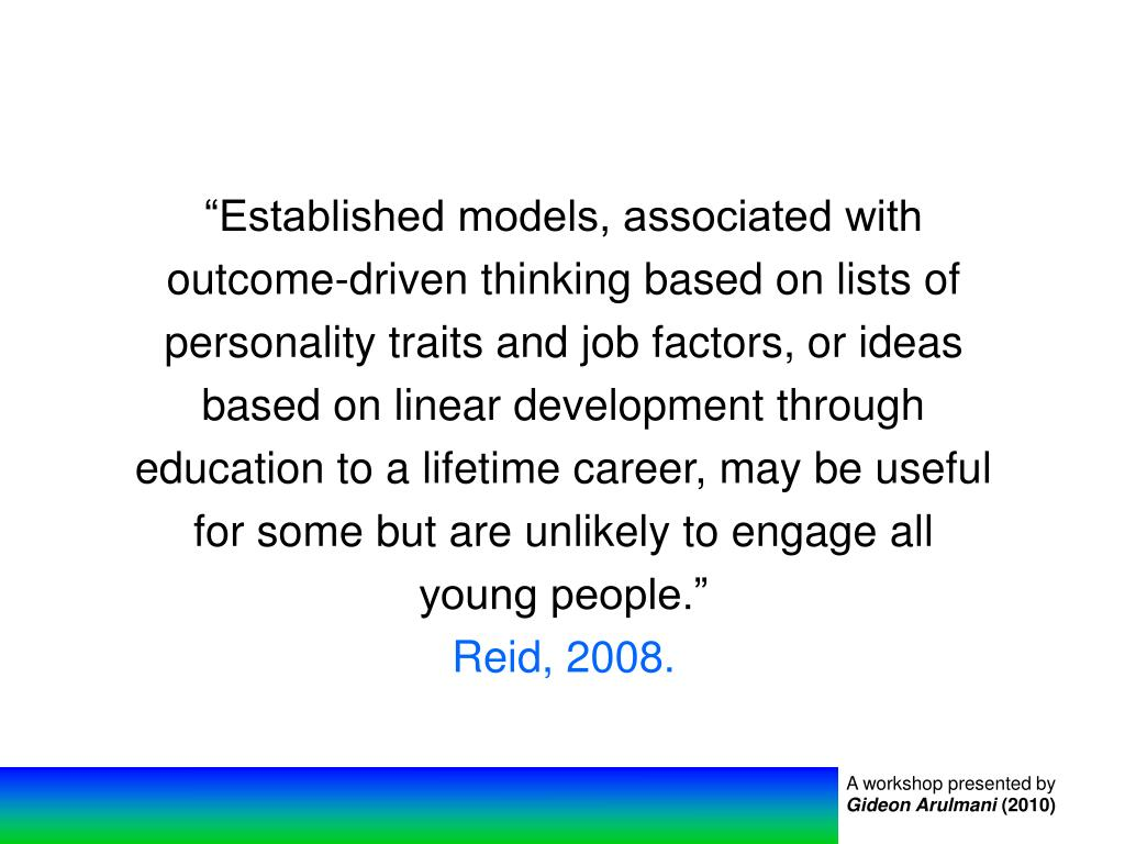 """Established models, associated with"
