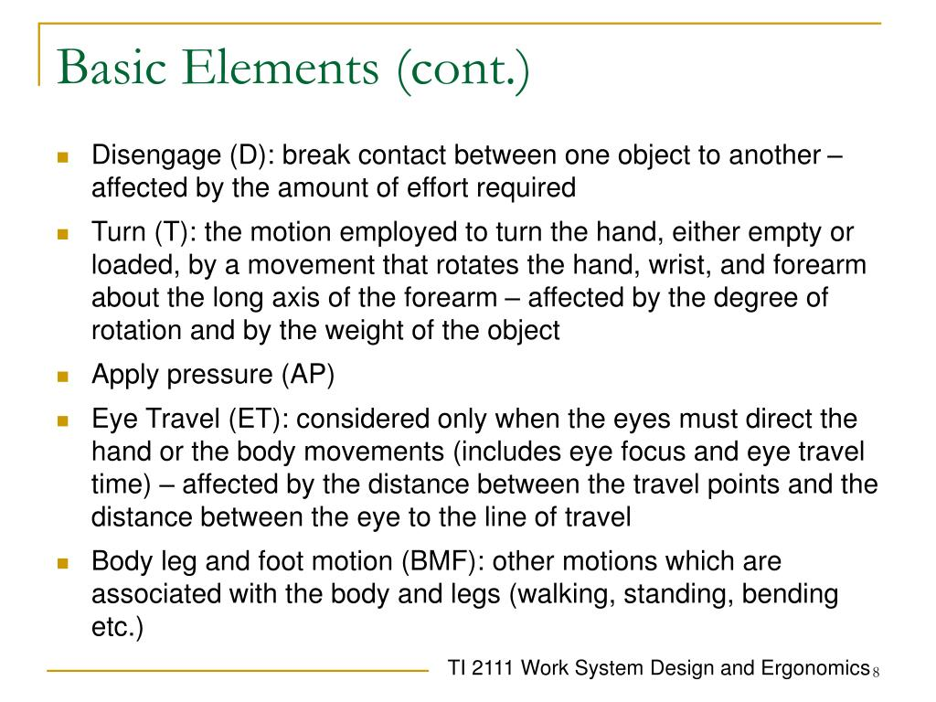 Basic Elements (cont.)