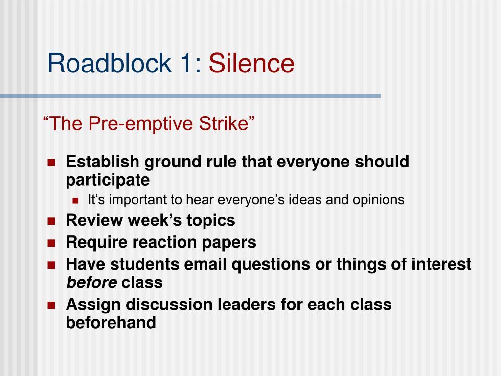 Roadblock 1: