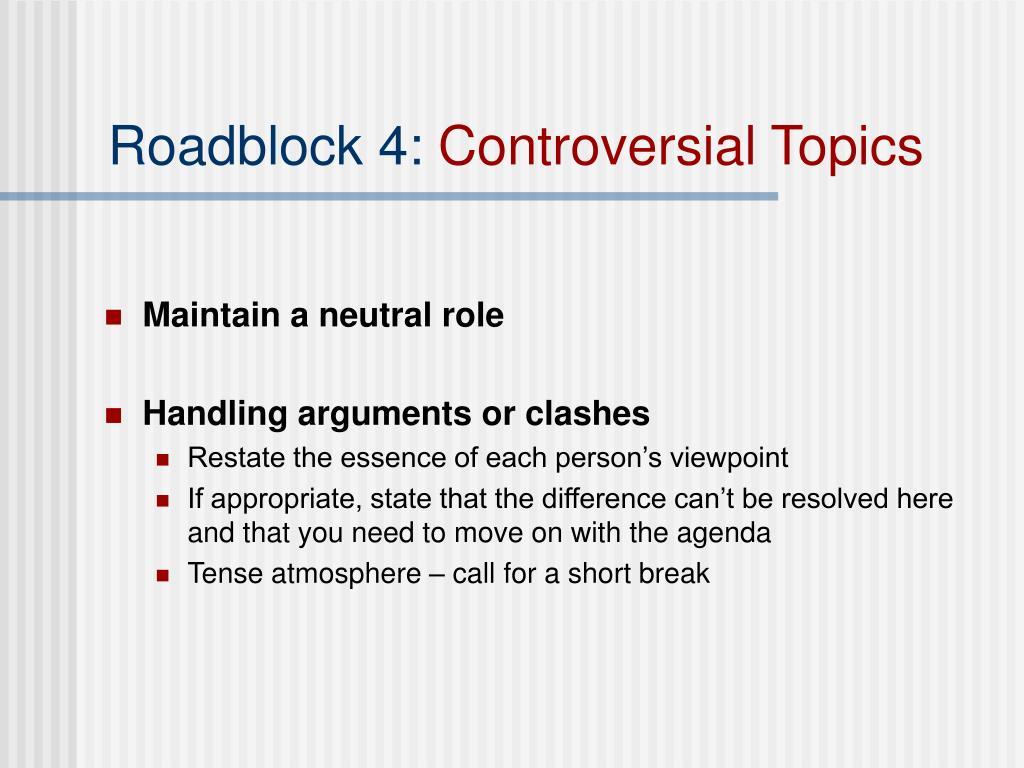 Roadblock 4: