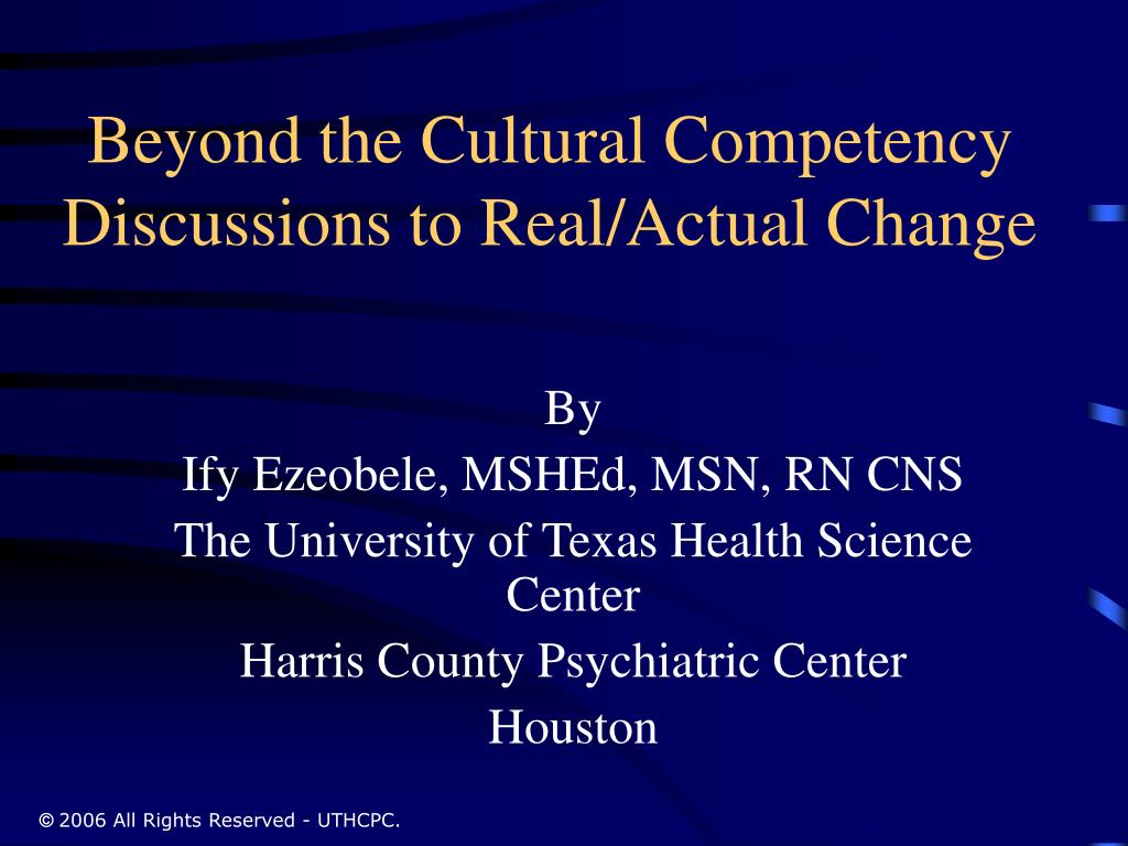 Beyond the Cultural Competency