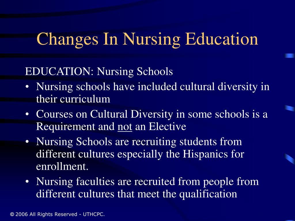 Changes In Nursing Education