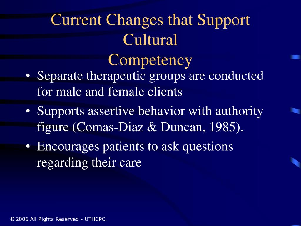 Current Changes that Support Cultural