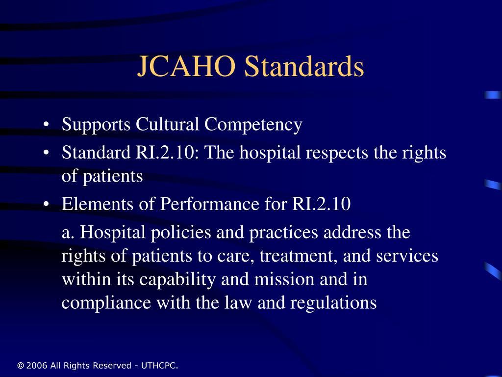 JCAHO Standards