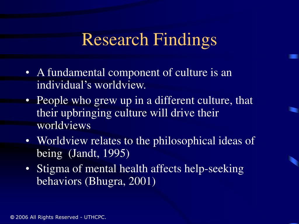 Research Findings
