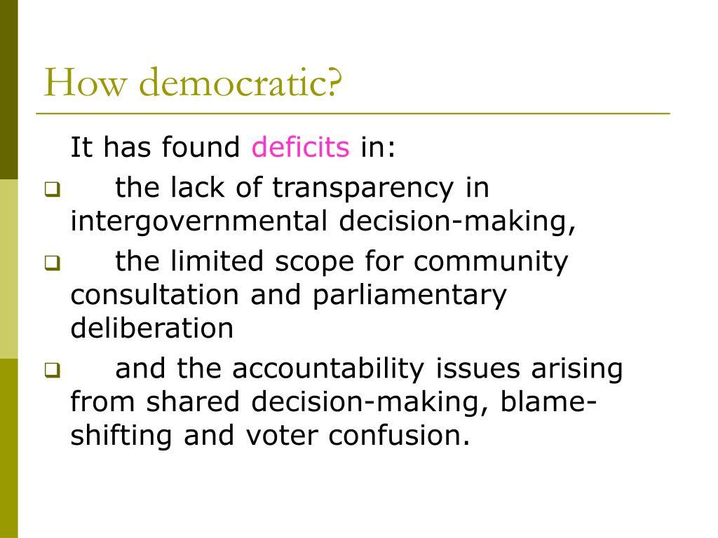 How democratic?