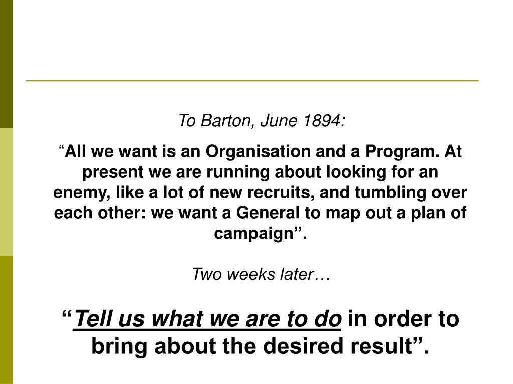 To Barton, June 1894: