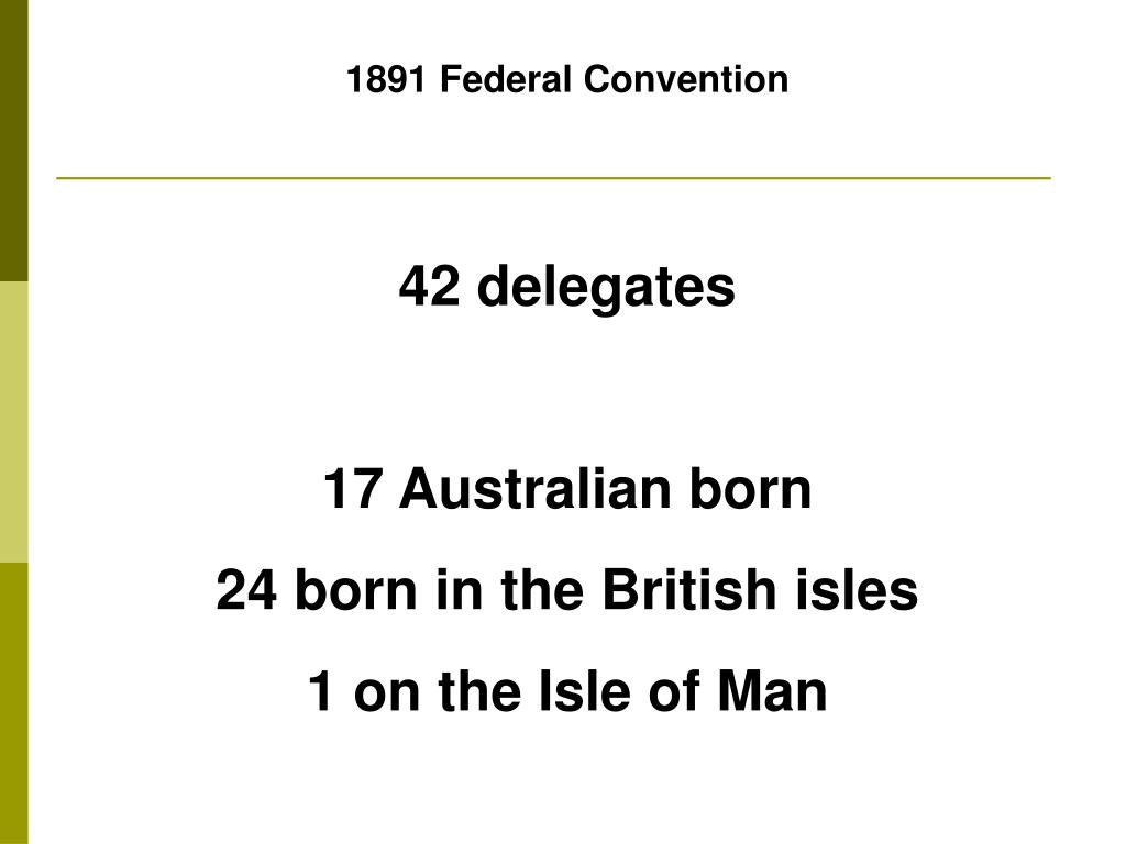 1891 Federal Convention