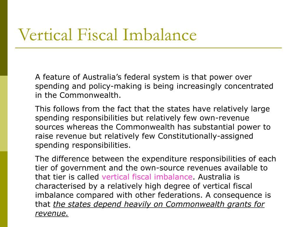 Vertical Fiscal Imbalance