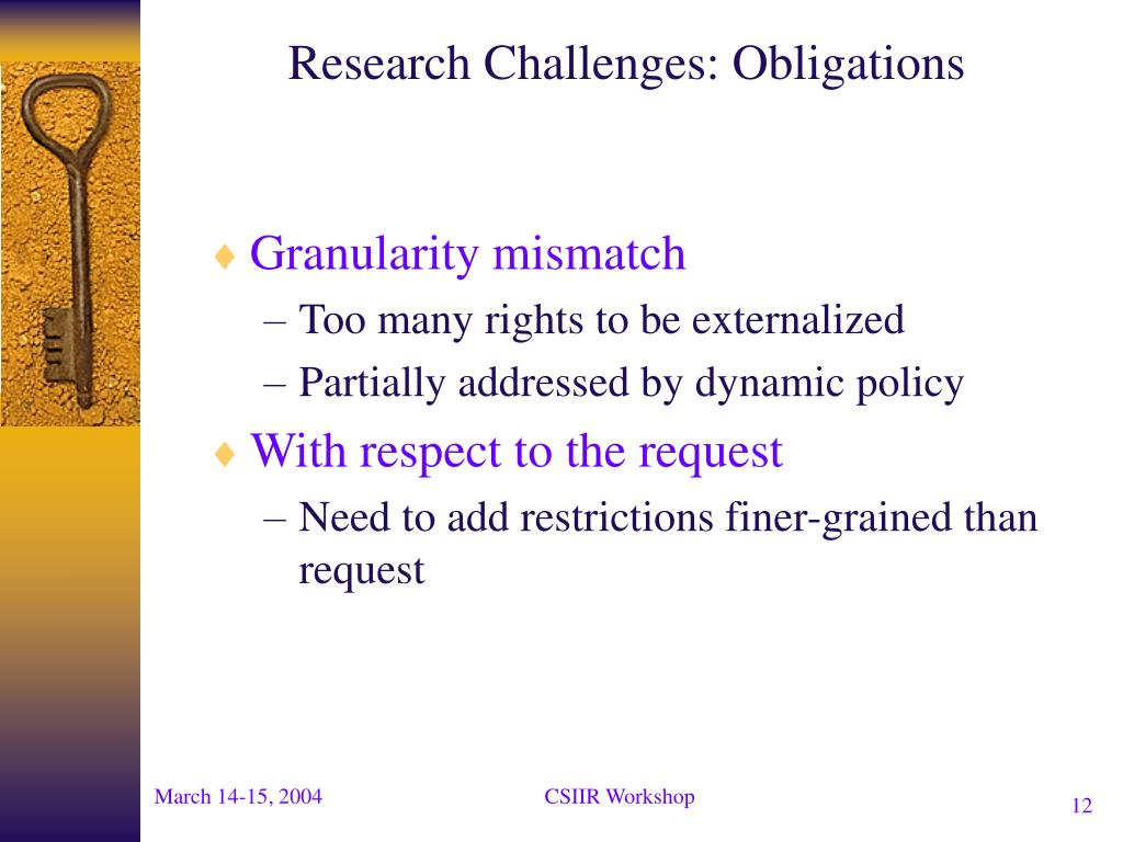 Research Challenges: Obligations