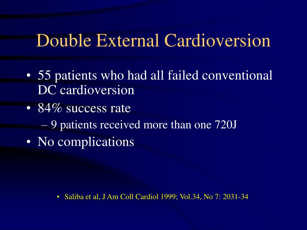 Double External Cardioversion