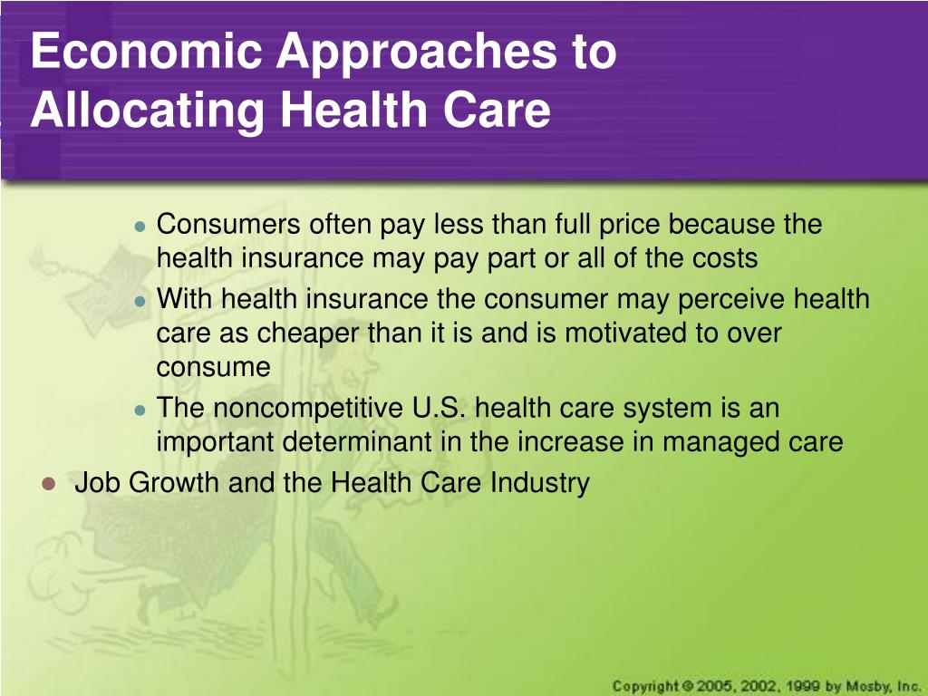 Economic Approaches to Allocating Health Care