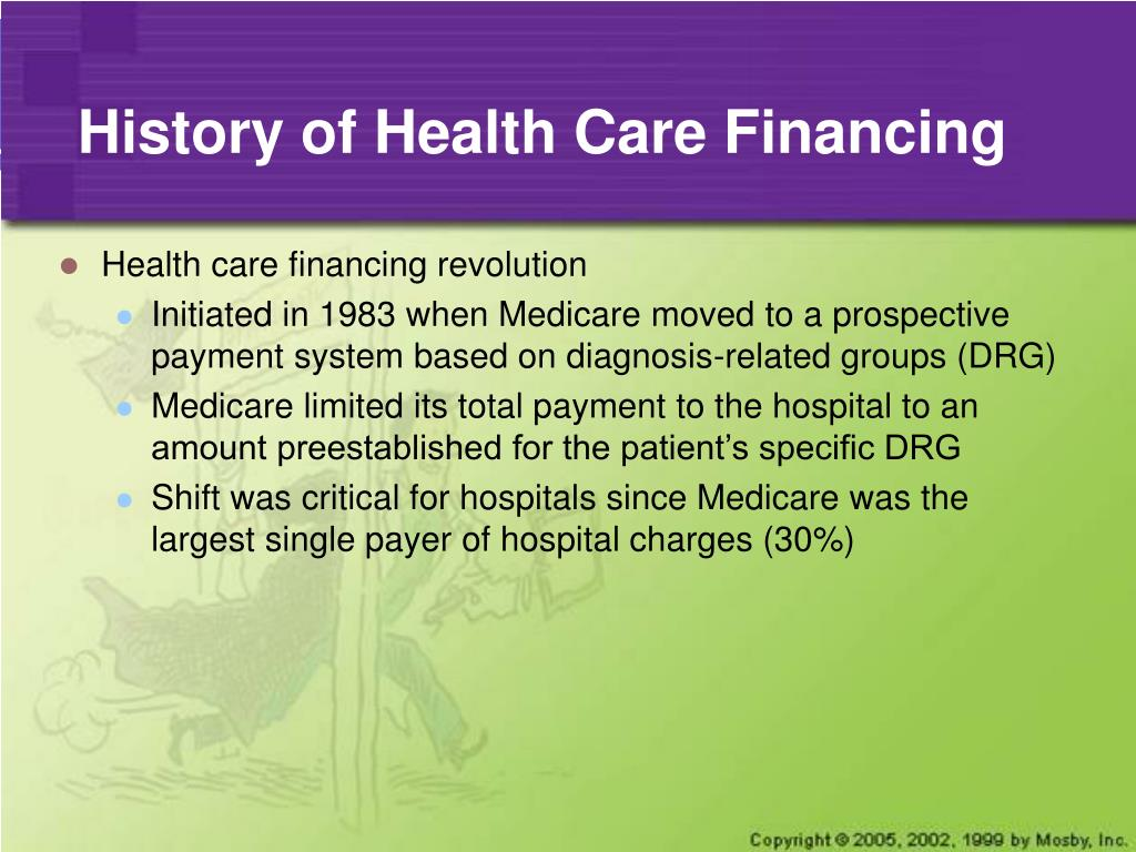 History of Health Care Financing