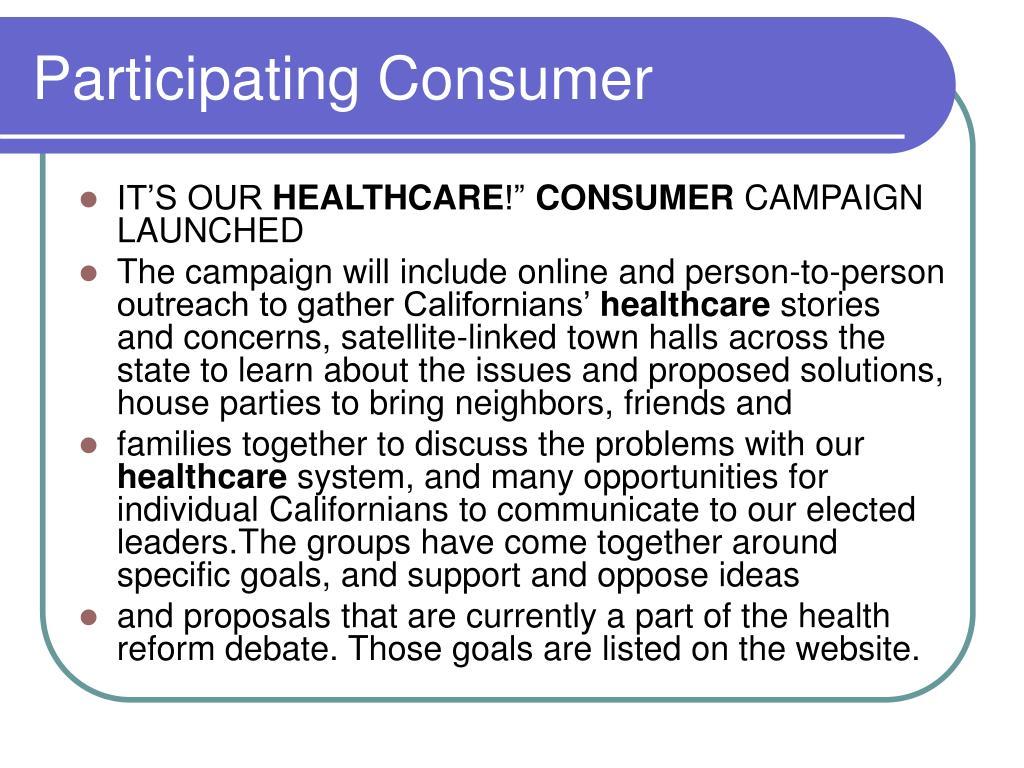 Participating Consumer