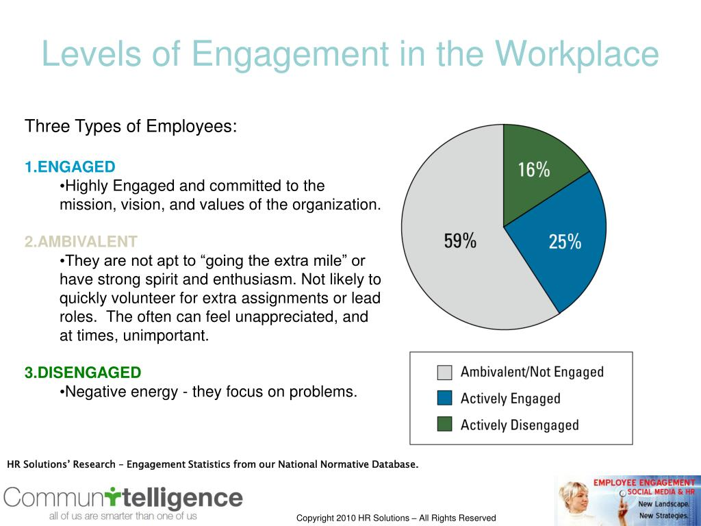 Levels of Engagement in the Workplace